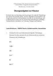 Übungsaufgaben zur Klausur.pdf - Fachbereich Biologie, Chemie ...
