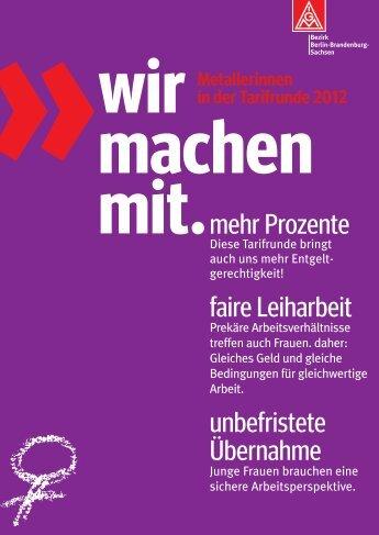 Postkarte - IG Metall Bezirk Berlin-Brandenburg-Sachsen