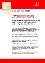PDF - Flugblatt Holz und Kunststoff - IG Metall Bezirk Berlin ...