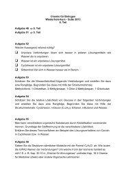 Übungsaufgaben zur Vorlesung Chemie für ... - bei DuEPublico