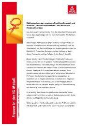 Stellungnahme der Frauen in der IG Metall als pdf