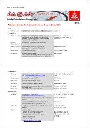 Geplante Aktivitäten für die aktuelle Woche vom 25. bis ... - IG-Metall