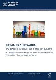 Seminare - Fachrichtung Chemie und Lebensmittelchemie