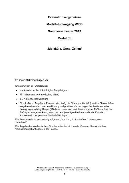 Modul C.I (SoSe 2013)