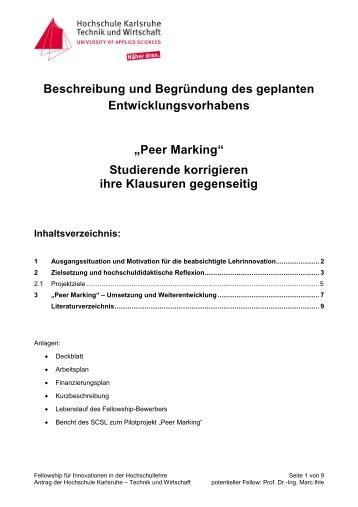 Peer Marking - Stifterverband für die Deutsche Wissenschaft