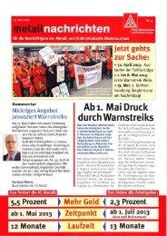 metallnachrichten Nr. 4 - IG Metall Salzgitter-Peine