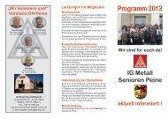 Programm 2013 - IG Metall Salzgitter-Peine