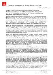 Pressemitteilung - IG Metall Salzgitter-Peine