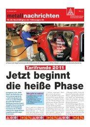 20110111_metallnachrichten_Tarifrunde VW 2011 - IG Metall ...