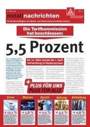 2013-03-14, metallnachrichten - IG Metall Niedersachsen und ...