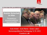 Soziale Sicherheit im Alter - IG Metall Salzgitter-Peine