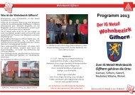 Jahresprogramm des Wohnbezirks Gifhorn für 2013 - IG Metall ...