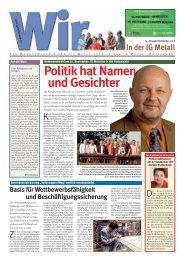 und Gesichter Politik hat Namen - IG Metall Wolfsburg