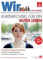 GUTES LEBEN KURSWECHSEL FÜR EIN - IG Metall Wolfsburg