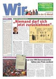 WIR 01/2005, 59. Ausgabe, Januar 2005 - IG Metall Wolfsburg
