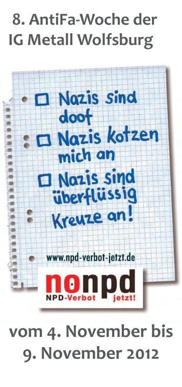 vom 4. November bis 9. November 2012 - IG Metall Wolfsburg