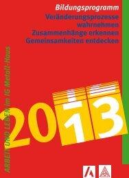 Bildungsprogramm 2013 - der Servicegesellschaft mbH für ...