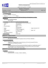 EG-Sicherheitsdatenblatt - EGO Dichtstoffwerke