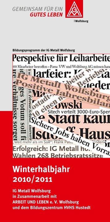 Winterhalbjahr 2010/2011 - IG Metall Wolfsburg