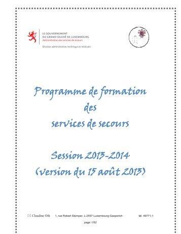 Catalogue des formations 2013-2014