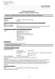 sicherheitsdatenblatt thermally conductive epoxy 2220b - Farnell