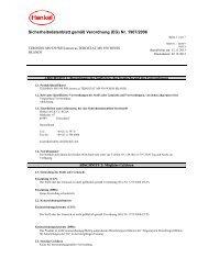 Sicherheitsdatenblatt gemäß Verordnung (EG) Nr. 1907/2006 - Farnell