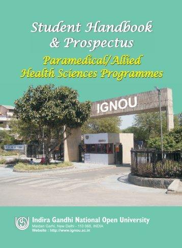 paramedical-pros - IGNOU