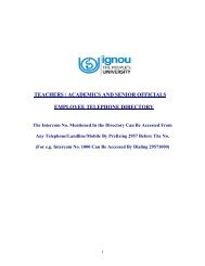 Employee Telephone Directory - IGNOU