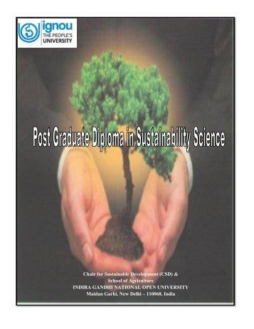Chair for Sustainable Development (CSD) & School ... - IGNOU Online