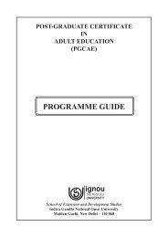 PROGRAMME GUIDE - IGNOU