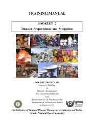 Disaster Preparedness and Mitigation - IGNOU