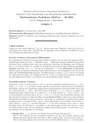 Aufgabe 2 - Institut für Geometrie und Praktische Mathematik