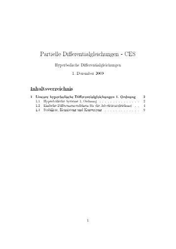 Partielle Di erentialgleichungen - CES