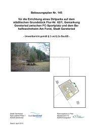 Bebauungsplan Nr. 145 für die Errichtung eines ... - Stadt Geretsried