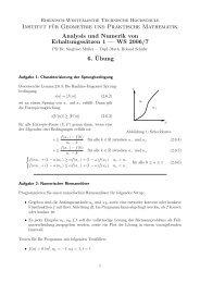 WS 2006/7 6. ¨Ubung - Institut für Geometrie und Praktische ...