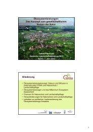 Ökosystemleistungen: Das Konzept vom gesellschaftlichen Nutzen ...