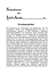 Privatesoteriker - IGPP