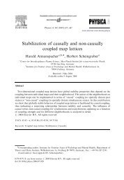 Stabilization of causally and non-causally coupled map lattices - IGPP