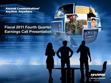Fiscal 2011 Fourth Quarter Earnings Call Presentation