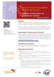 Plaquette Master SICG Recherche - Institut de gestion de Rennes ...