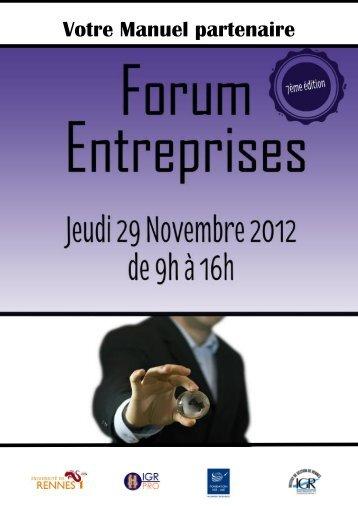 Votre Manuel partenaire - Institut de gestion de Rennes