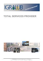 Broschüre IGRALUB TOTAL SERVICES PROVIDER