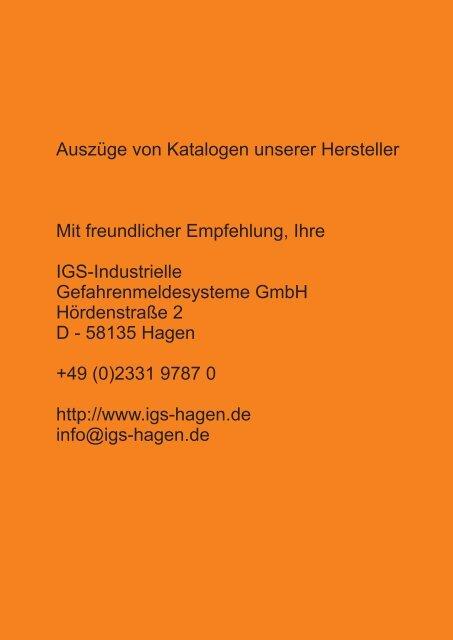 Katalogauszug Novar Automatische Brandmelder - IGS-Industrielle ...