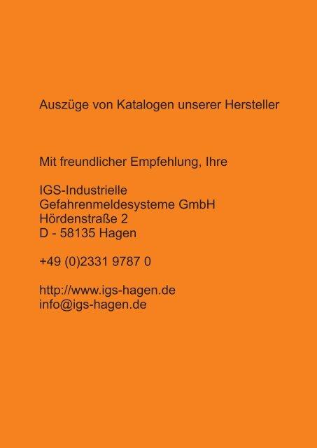Katalogauszug Novar Brandmelderzentralen - IGS-Industrielle ...