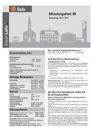 Mitteilungsblatt Sulz 48 / 2013 (application/pdf) - Stadt Lahr