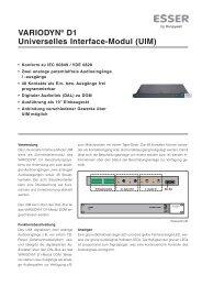 VARIODYN® D1 Universelles Interface-Modul (UIM)