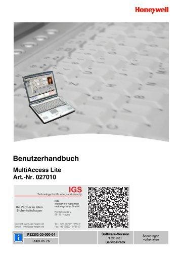 Honeywell - MultiAccess Lite - Benutzerhandbuch - IGS-Industrielle ...