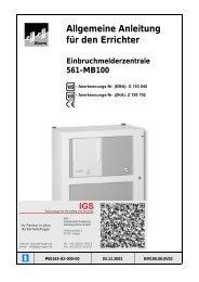 Honeywell - Einbruchmelderzentrale 561-MB100 - Errichter