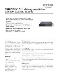 VARIODYN® D1 Leistungsverstärker 2XV200, 2XV300, 2XV500