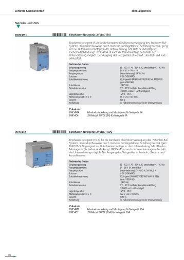 clino allgemein Zentrale Komponenten Netzteile und USVs ...